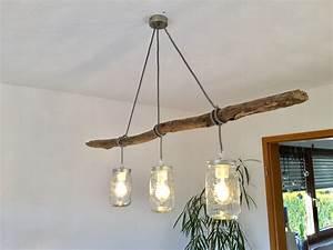 Kleiderstange Wand Holz : homemade lampe with branch selbstgemachte esstischlampe ~ Michelbontemps.com Haus und Dekorationen