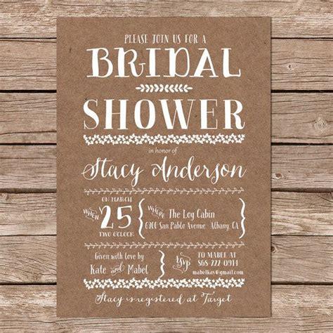 diy country bridal shower invitations rustic bridal shower invitation kraft bridal shower