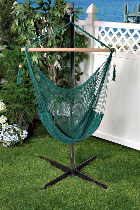 Cotton Hammock Chair by Bliss Tahiti Cotton Rope Hammock Chair Green