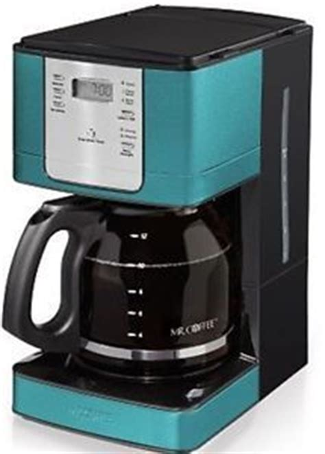 Coffee is a leading producer of hot and iced coffee makers, espresso machines, iced tea brewers, and more. Mr. Coffee 12-Cup Programmable Coffee Maker - Turquoise Teal ***NEW IN BOX | Turquoise, Coffee ...