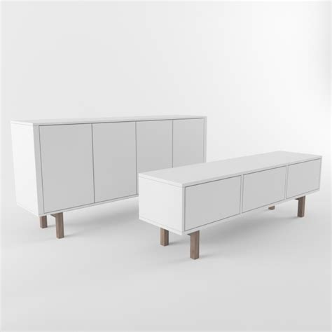 Ikea Tv Sideboard by 3d Models Sideboard Chest Of Drawer Ikea Stockholm