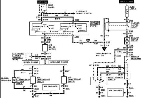 2000 Ford E 350 Electrical Wiring Diagram Circuit Schematic Learn by Can You Tell Me Where The A C Relay Is Located On A 1989