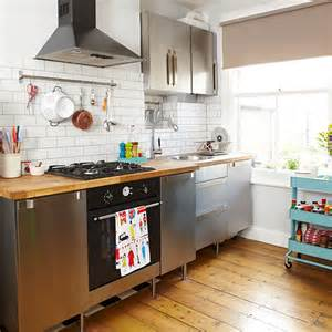 kitchen trolley ideas portable trolley and storage rails in a small kitchen