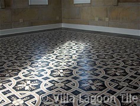 top black and white tile flooring