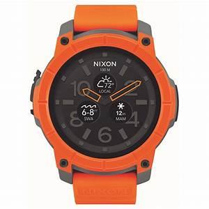 Montre Connectée Orange : nixon mission orange montre connect e nixon sur ~ Medecine-chirurgie-esthetiques.com Avis de Voitures