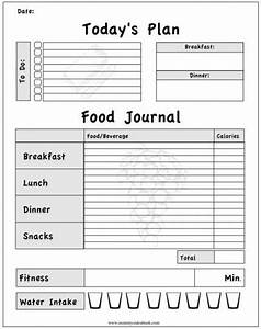 printable workout journal for myself to track my With food and exercise journal template