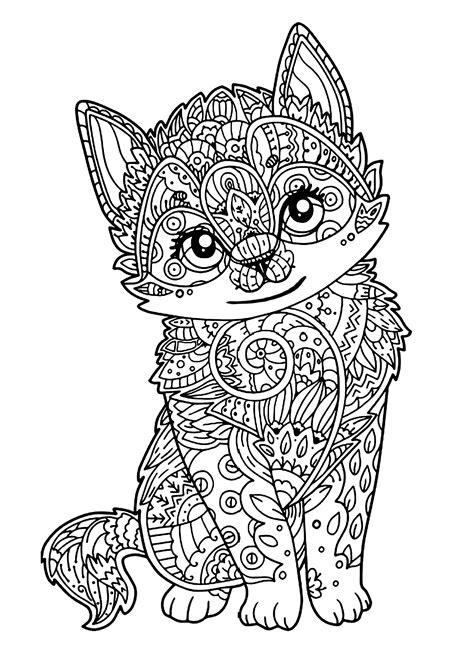 gatti  gatti disegni da colorare  adulti