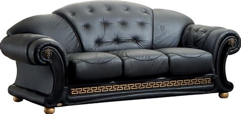 Versace Black Sofa Versace Esf Furniture Leather Sofas