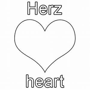 Herz Bilder Zum Ausmalen : kostenlose malvorlage englisch lernen herz heart zum ausmalen ~ Eleganceandgraceweddings.com Haus und Dekorationen
