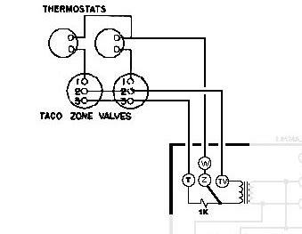 Help Wiring Honeywell Aquastat Taco Zone