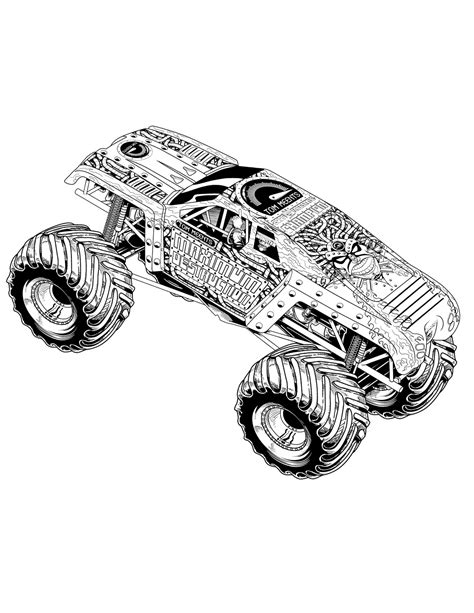 Monster Truck Coloring Pages Coloringsuitecom