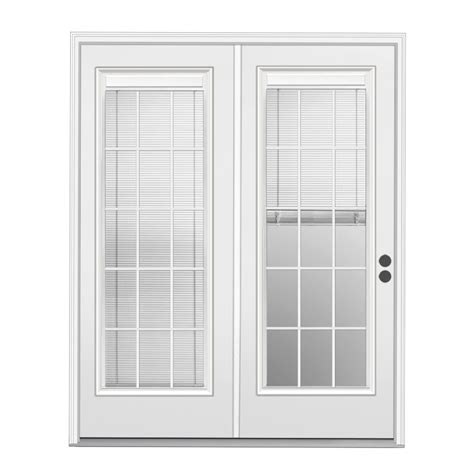 outswing patio doors with blinds shop reliabilt 71 5 in blinds between the glass steel