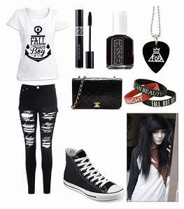Fall Out Boy emo outfit by amberpend on Polyvore featuring polyvore fashion style Glamorous ...