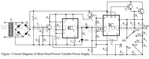Short Proof Variable Power Supply Circuit Engineering