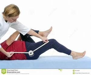 Measurement Of Hip Joint Contraction Royalty Free Stock