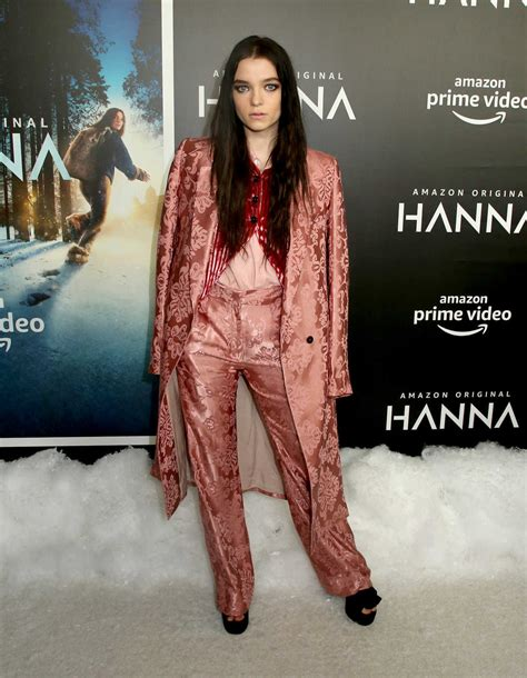 esme creed miles attends amazon studios hanna premiere