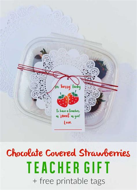 chocolate covered strawberries teacher appreciation gift