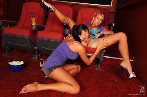 Tiara Bell and Sasha Cane enjoying hot sex in the cinema ...