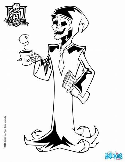 Monster Mr Coloring Death Energy Coloriage Coffee
