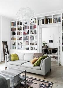 Deco Murale Blanche : la biblioth que murale en 65 photos inspirantes ~ Teatrodelosmanantiales.com Idées de Décoration