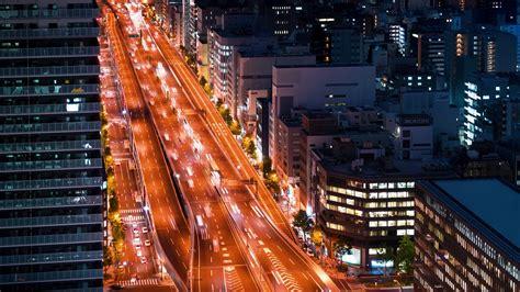 Osaka Japan October 17th 2017 Traffic Moves Through