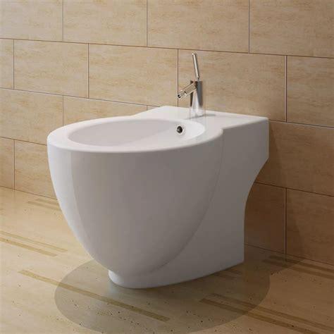 vidaxlcouk white ceramic toilet bidet set