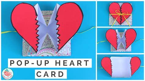 Pop Up Heart Card Tutorial  How To Make A Pop Up Heart