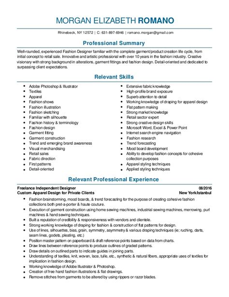 i need an interior decorator fashion design and merchandising resume 2016 pdf