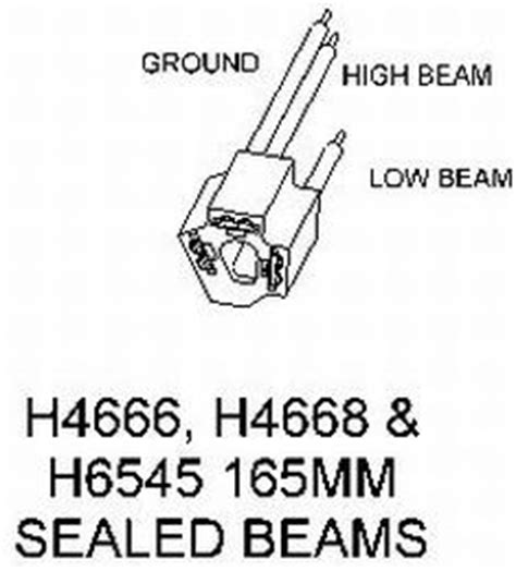 H4666 Wiring Diagram by Hella Adapter From 165mm Sealed Beams To H4 Conversion