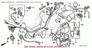 Honda Cf70c Japanese Home Market  Cf70-320  Wire Harness