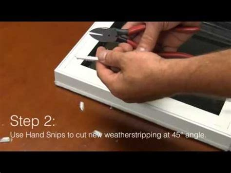 replacing weatherstripping helpful video  window depot usa youtube