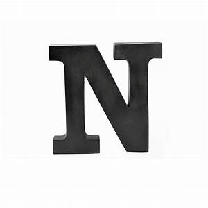 metal letter N on raw metal finish, 12 high - LT12-NRW EA