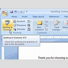 How To Run A Spell Check In Word 2007 Dummies