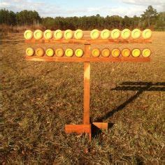 tier pigeon clay target stand    min  thrown  pellet wood bought
