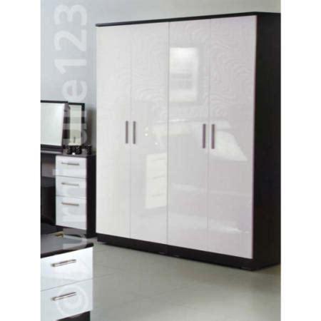 White 4 Door Wardrobe by Welcome Furniture Hatherley High Gloss 4 Door Wardrobe In