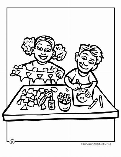 Camp Coloring Crafts Pages Camping Summer Printable