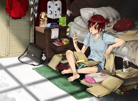 Anime Studying Wallpaper - studying by juhaihai on deviantart