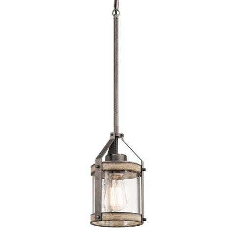 mini pendant lighting for kitchen island shop kichler lighting barrington 5 5 in anvil iron and
