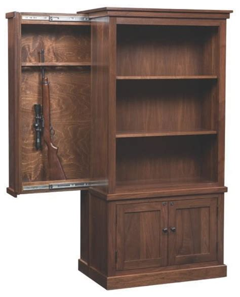Bookcase With Gun Cabinet by Cambridge Bookcase With Gun Cabinet From Dutchcrafters