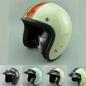 New adult open face jet moto Vintage motorcycle helmets ...