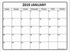 January 2019 calendar 56+ templates of 2019 printable