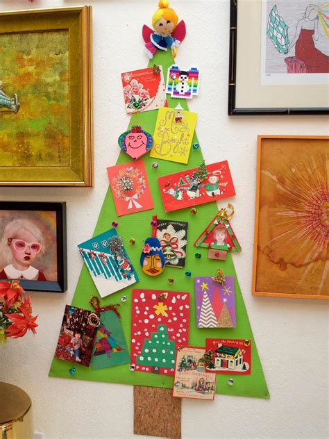 christmas tree corkboard  display greeting