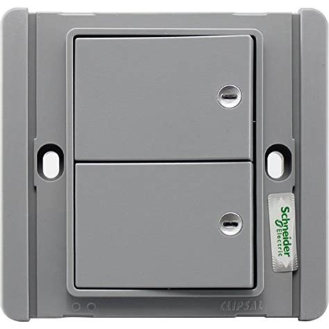 schneider clipsal neo e3000 c metro 86 style grey silver 2 1 way 10a switch with blue led