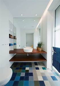 67 cool blue bathroom design ideas digsdigs With carrelage adhesif salle de bain avec spot led deco