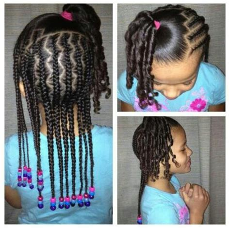 beads braids beyond corn rolls little girl