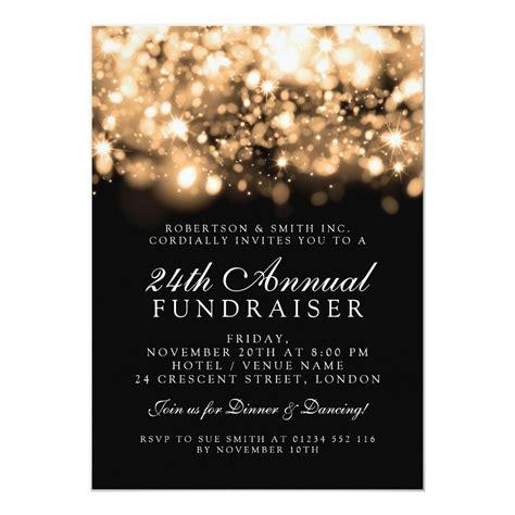 Formal Corporate Gala Event Gold Sparkling Lights