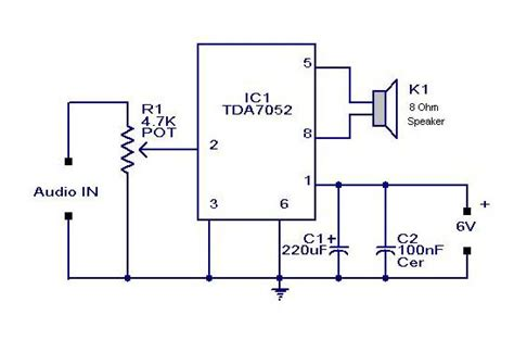small  mini audio amplifier circuit  tda  ic