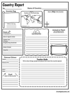 Country Fact Sheet | Compassion | Teaching social studies