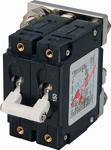 C-series White Toggle Circuit Breaker