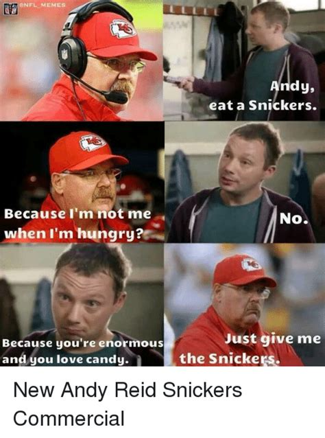 Snickers Commercial Meme - funny football and love memes of 2016 on sizzle